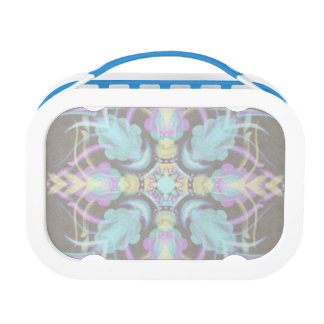 Pastel on Concrete Street Mandala (variation) Lunch Box