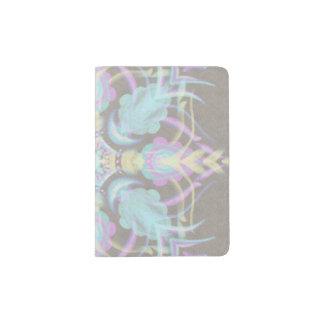 Pastel on Concrete Street Mandala (variation) Passport Holder