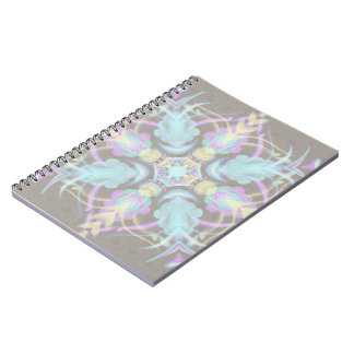 Pastel on Concrete Street Mandala (variation) Spiral Notebook