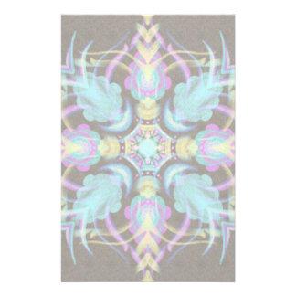 Pastel on Concrete Street Mandala (variation) Stationery