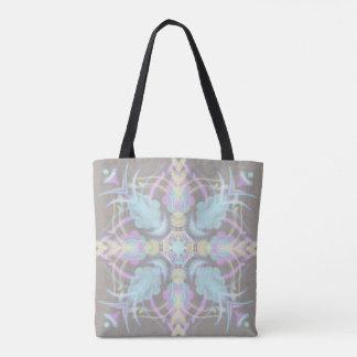 Pastel on Concrete Street Mandala (variation) Tote Bag