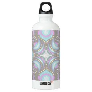 Pastel on Concrete Street Mandala Water Bottle