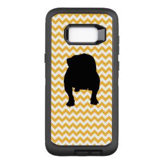 Pastel Orange Chevron With English Bulldog OtterBox Defender Samsung Galaxy S8+ Case
