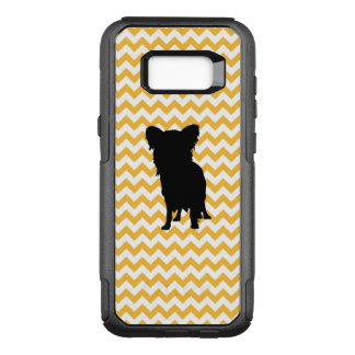 Pastel Orange Chevron With Yorkie Silhouette OtterBox Commuter Samsung Galaxy S8+ Case