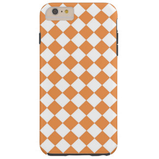 Pastel Orange Diamond Checker board pattern Tough iPhone 6 Plus Case