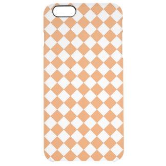 Pastel Orange Diamond Checkerboard pattern Clear iPhone 6 Plus Case