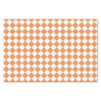 Pastel Orange Diamond Checkerboard pattern Tissue Paper