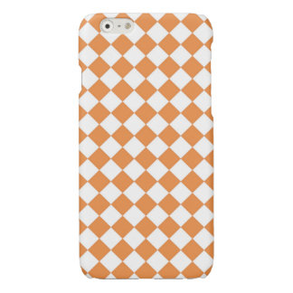 Pastel Orange Diamond Checkernboard pattern