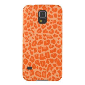 Pastel orange leopard print pattern galaxy s5 case