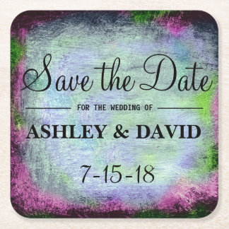 Pastel Paint Black Background Coaster