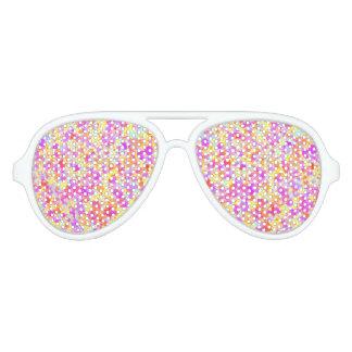 Pastel Paint Splatter Look Aviator Sunglasses