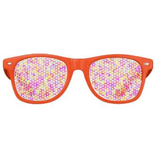 Pastel Paint Splatter Look Retro Sunglasses