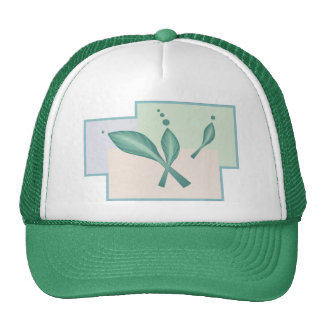 Pastel pale girly eco leaves fantasy alien science trucker hat