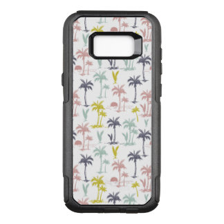 Pastel Palm Tree by the Beach Pattern OtterBox Commuter Samsung Galaxy S8+ Case