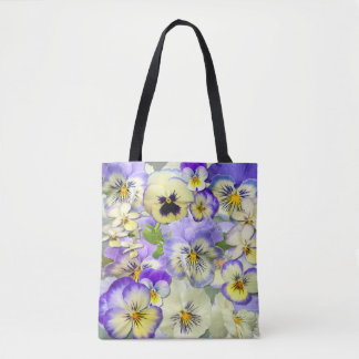 Pastel Pansies Tote Bag