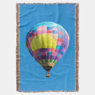 Pastel Patchwork Balloon Throw Blanket