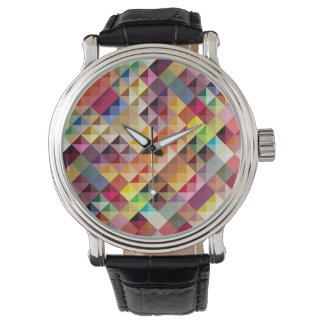 Pastel Pattern Colorful Watch