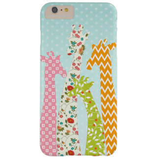 Pastel Pattern Filled 4 Giraffes iPhone 6 Plus Barely There iPhone 6 Plus Case