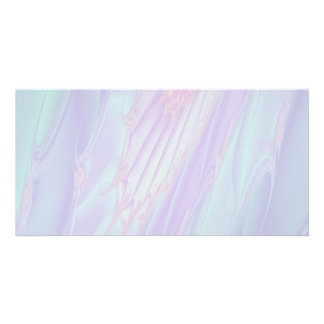 Pastel Pattern Fractal - Sea Shell Style. Photo Card
