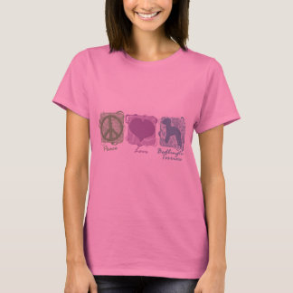 Pastel Peace, Love, and Bedlington Terriers T-Shirt