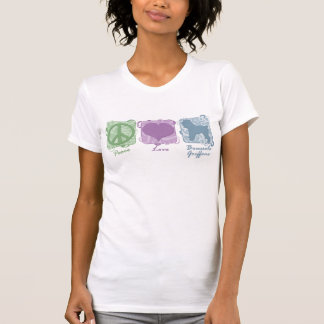 Pastel Peace, Love, and Brussels Griffons T-Shirt
