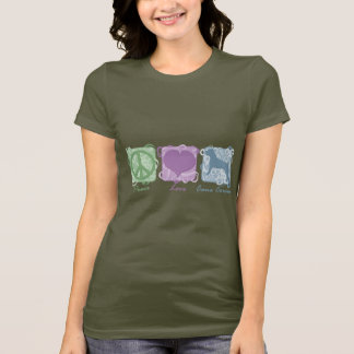 Pastel Peace, Love, and Cane Corsos T-Shirt