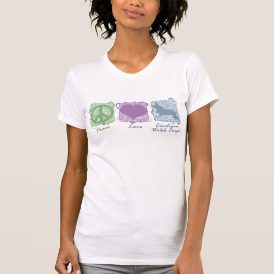 Pastel Peace, Love, and Cardigan Welsh Corgis T-Shirt