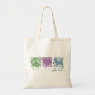 Pastel Peace, Love, and PBGVs Tote Bag