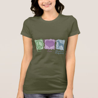Pastel Peace, Love, and Rhodesian Ridgebacks T-Shirt