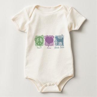 Pastel Peace, Love, and Shiba Inus Baby Creeper