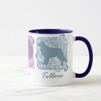 Pastel Peace, Love, and Tollers Mug