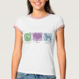 Pastel Peace, Love, and Tollers T-Shirt