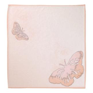 Pastel Peach Butterflies Bandana
