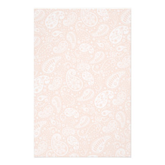 Pastel Peach Paisley Personalized Stationery