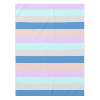 pastel peach purple mint grey blue color block tablecloth