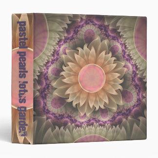 Pastel Pearl Lotus Garden o Fractal Dahlias Binder
