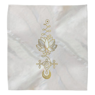 Pastel Pearl Unalome Lotus Symbol Bandana