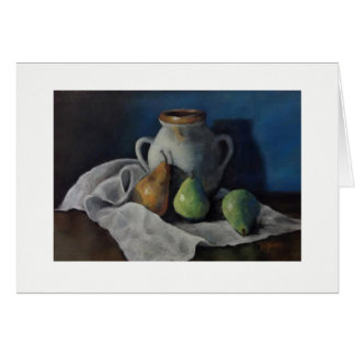Pastel Pears Greeting Card 5x7
