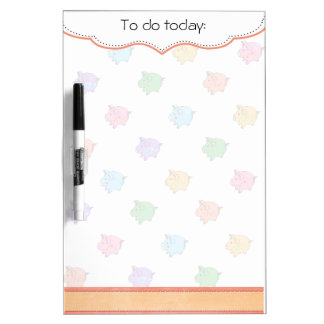 Pastel Pig Pattern Dry-Erase Boards