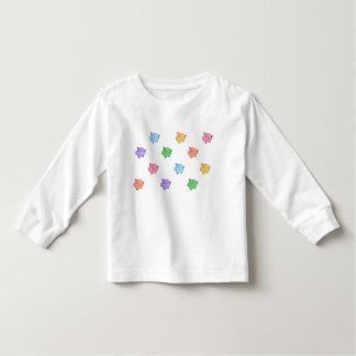 Pastel Pig Pattern Toddler T-shirt