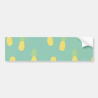 Pastel Pineapple Pattern Bumper Sticker