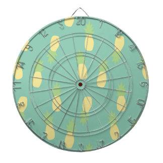 Pastel Pineapple Pattern Dartboard