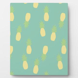 Pastel Pineapple Pattern Plaque