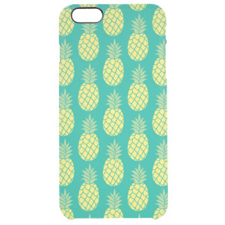 Pastel Pineapples Clear iPhone 6 Plus Case
