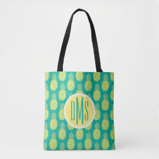 Pastel Pineapples | Monogram Tote Bag