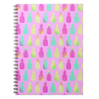 Pastel Pineapples Notebooks