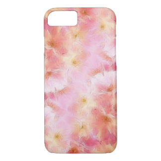 Pastel pink abstract flowers iPhone 8/7 case