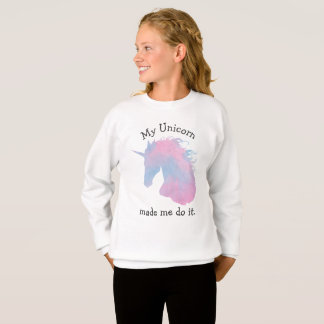 Pastel Pink and Blue Funny Unicorn Quote Sweatshirt
