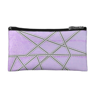 Pastel Pink and Purple French Seam Cosmetic Bags