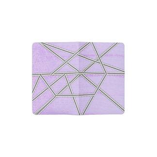 Pastel Pink and Purple French Seam Pocket Moleskine Notebook